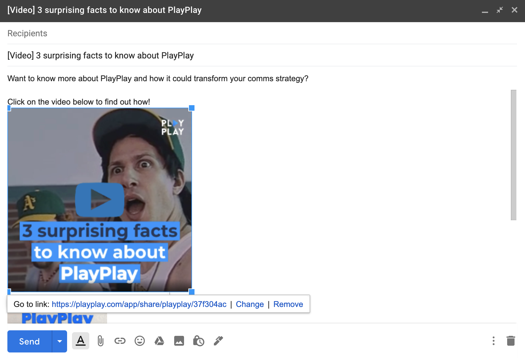 embed video into email