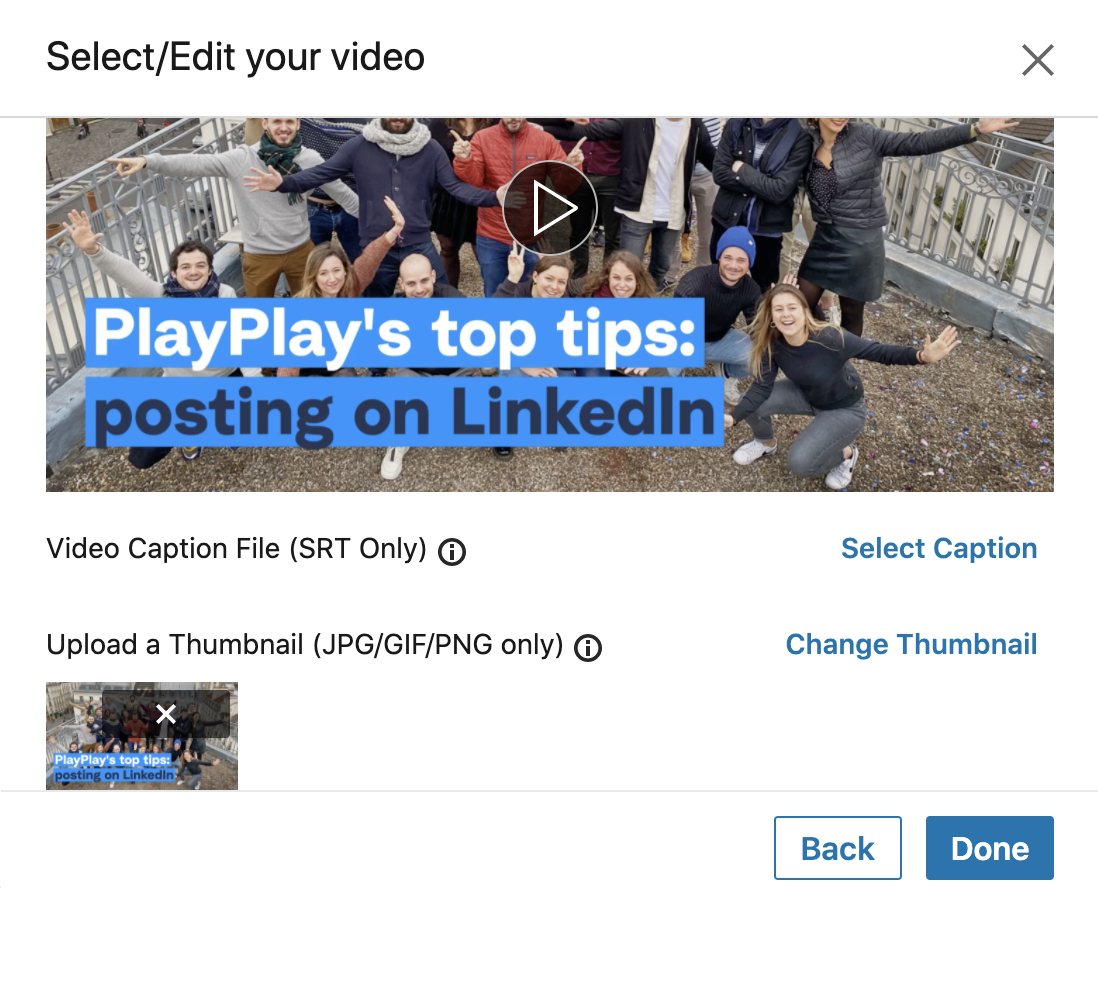 how to publish video on linkedin