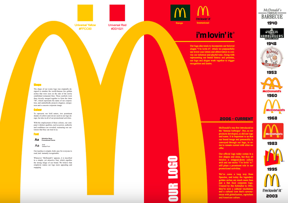 mc donald's brand book