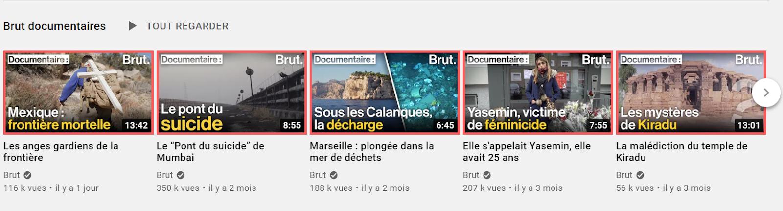 Miniatures de vidéos réussies YouTube