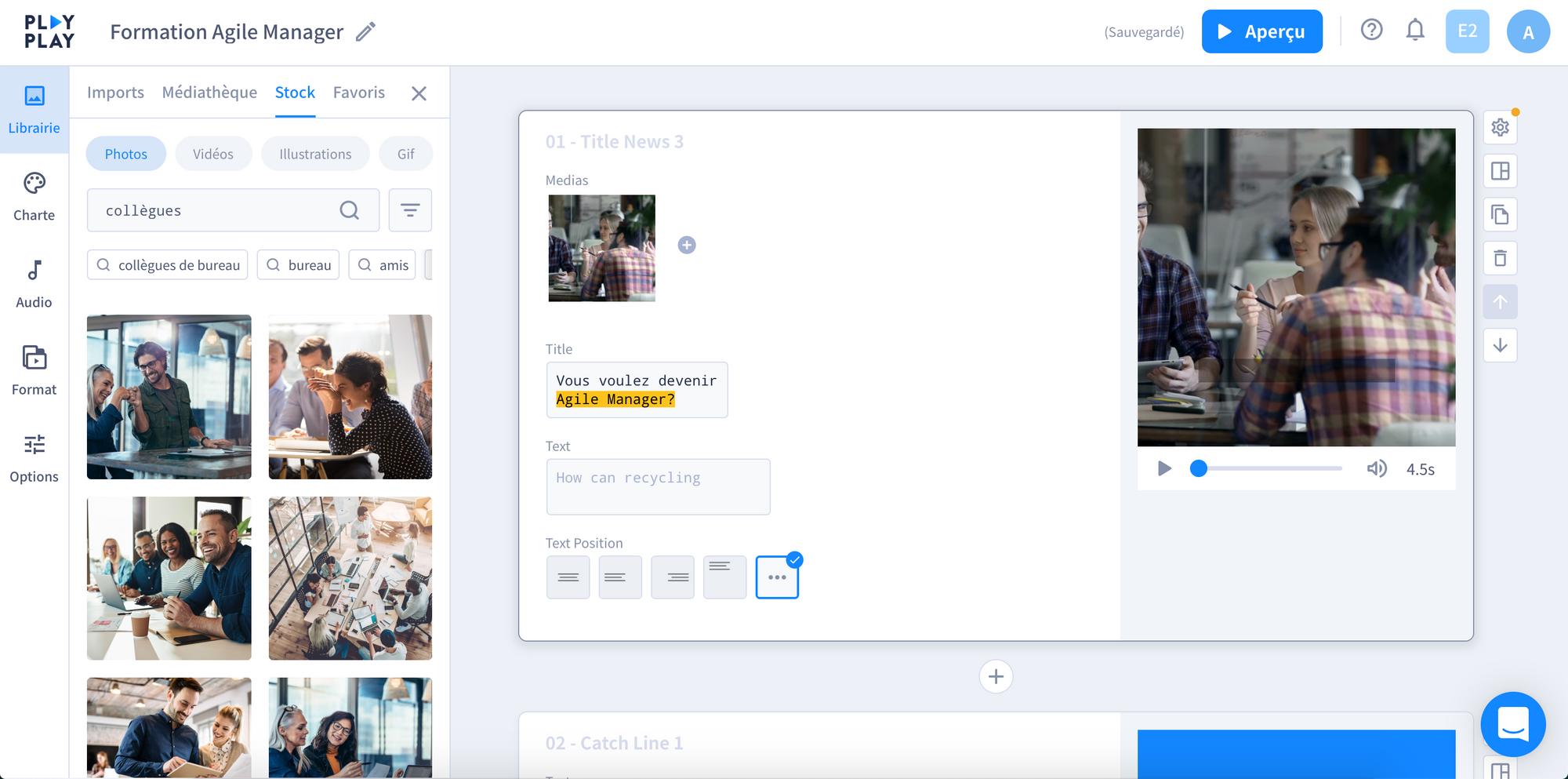 L'expérience de recherche Getty Images sur PlayPlay